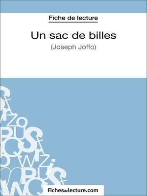 cover image of Un sac de billes de Joseph Joffo (Fiche de lecture)