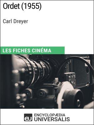 cover image of Ordet de Carl Dreyer