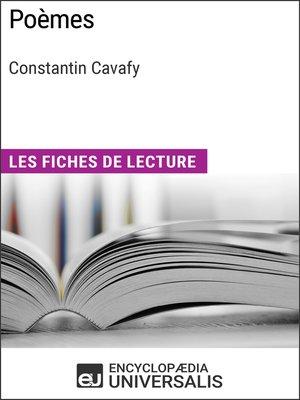 cover image of Poèmes de Constantin Cavafy