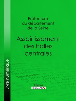 cover image of Assainissement des halles centrales
