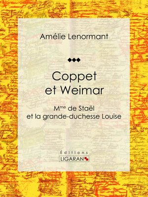 cover image of Coppet et Weimar