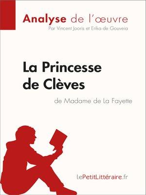 cover image of La Princesse de Clèves de Madame de Lafayette (Analyse de l'oeuvre)