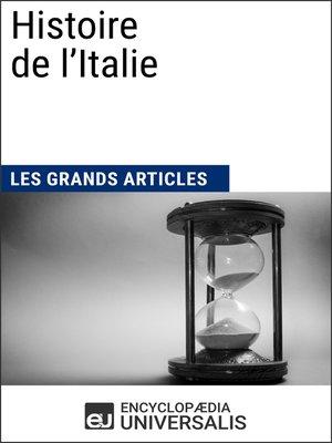 cover image of Histoire de l'Italie