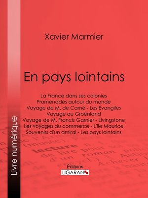cover image of En pays lointains