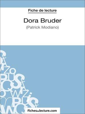 cover image of Dora Bruder de Patrick Modiano (Fiche de lecture)