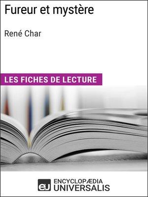 cover image of Fureur et mystère de René Char