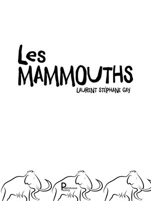 cover image of Les mammouths
