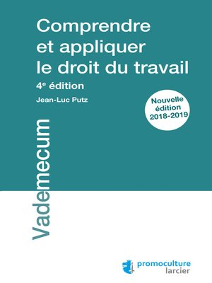 cover image of Comprendre et appliquer le droit du travail