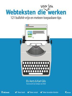 cover image of Webteksten die werken