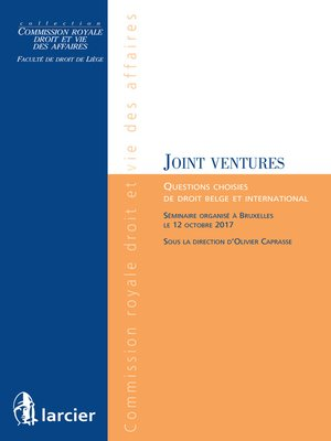 cover image of Les joint ventures