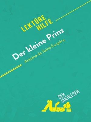 cover image of Der kleine Prinz von Antoine de Saint-Exupéry (Lektürehilfe)