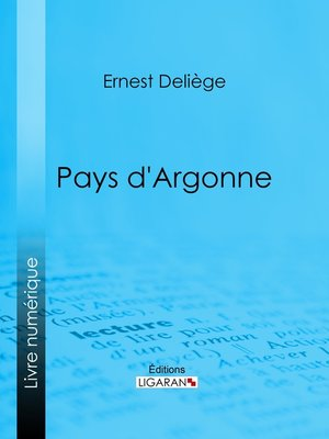 cover image of Pays d'Argonne