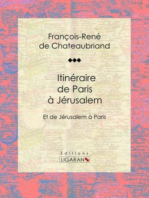 cover image of Itinéraire de Paris à Jérusalem