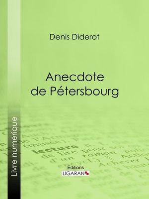 cover image of Anecdote de Pétersbourg