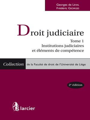 cover image of Droit judiciaire