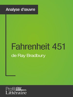 cover image of Fahrenheit 451 de Ray Bradbury (Analyse approfondie)