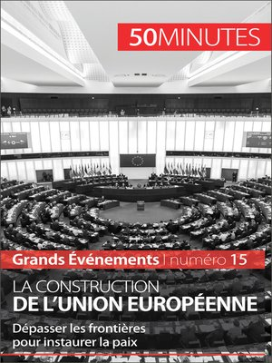 cover image of La construction de l'Union européenne