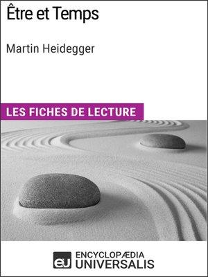 cover image of Être et Temps de Martin Heidegger