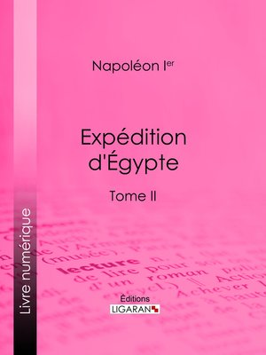 cover image of Expédition d'Egypte