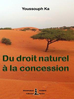 cover image of Du droit naturel à la concession