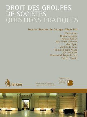 cover image of Droit des groupes de sociétés