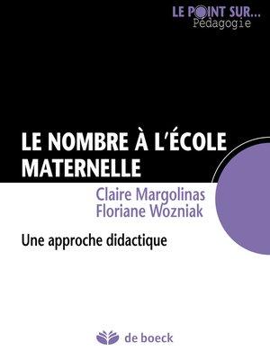 cover image of Le nombre à l'école maternelle