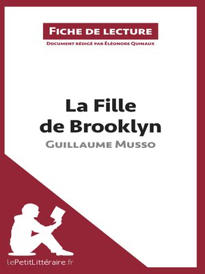 cover image of La Fille de Brooklyn de Guillaume Musso (Fiche de lecture)