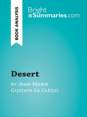 cover image of Desert by Jean-Marie Gustave Le Clézio (Book Analysis)