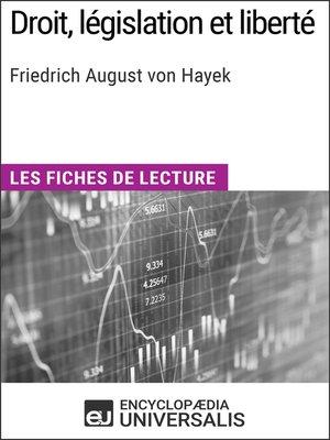 cover image of Droit, législation et liberté de Friedrich August von Hayek