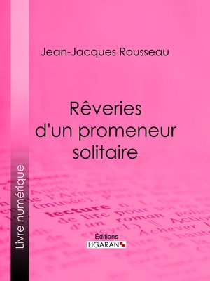 cover image of Rêveries d'un promeneur solitaire