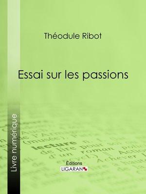 cover image of Essai sur les passions
