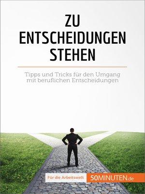 cover image of Zu Entscheidungen stehen