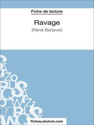 cover image of Ravage de René Barjavel (Fiche de lecture)