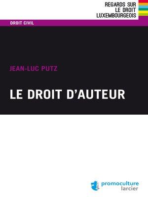 cover image of Le droit d'auteur