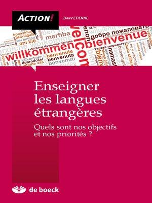 cover image of Enseigner les langues étrangères