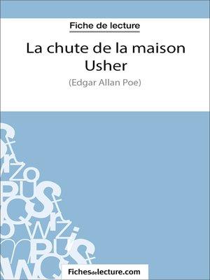 cover image of La chute de la maison Usher