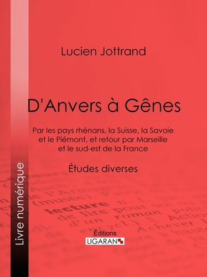 cover image of D'Anvers à Gênes