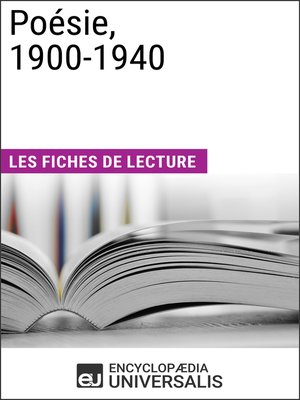 cover image of Poésie, 1900-1940