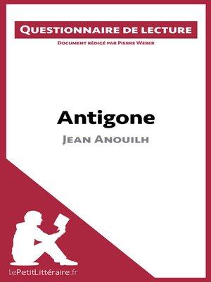 cover image of Antigone de Jean Anouilh