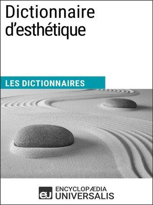 cover image of Dictionnaire d'esthétique