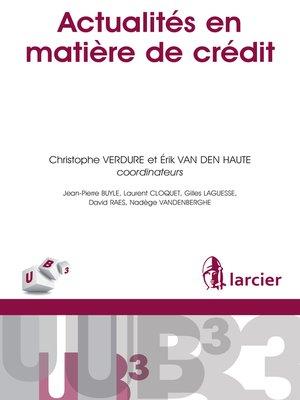 cover image of Actualités en matière de crédit