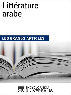 cover image of Littérature arabe