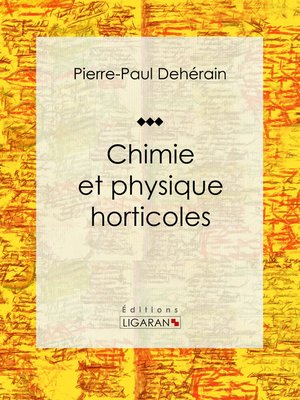 cover image of Chimie et physique horticoles