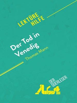 cover image of Der Tod in Venedig von Thomas Mann (Lektürehilfe)