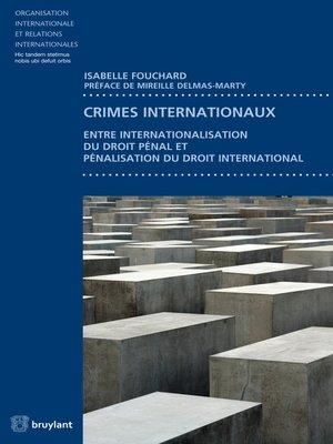 cover image of Crimes internationaux