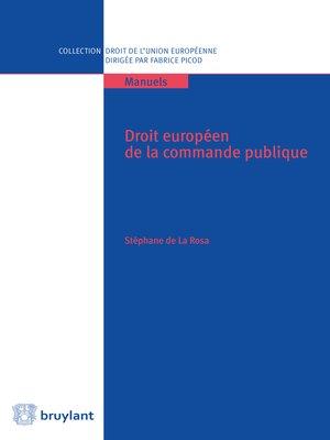cover image of Droit européen de la commande publique