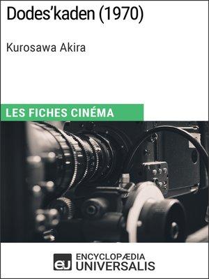 cover image of Dodes'kaden de Kurosawa Akira