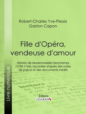 cover image of Fille d'Opéra, vendeuse d'amour
