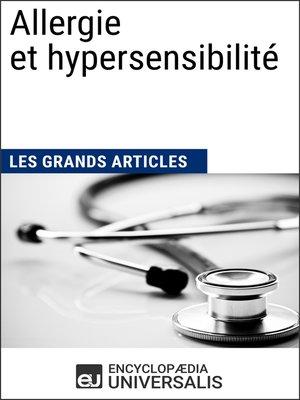 cover image of Allergie et hypersensibilité