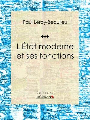 cover image of L'État moderne et ses fonctions